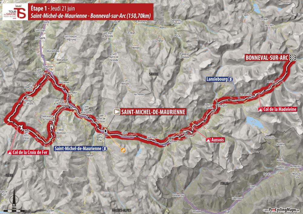 Etape 1 jeudi 21 juin 2018 tour de savoie mont blanc - Jeudi de l ascension 2018 ...